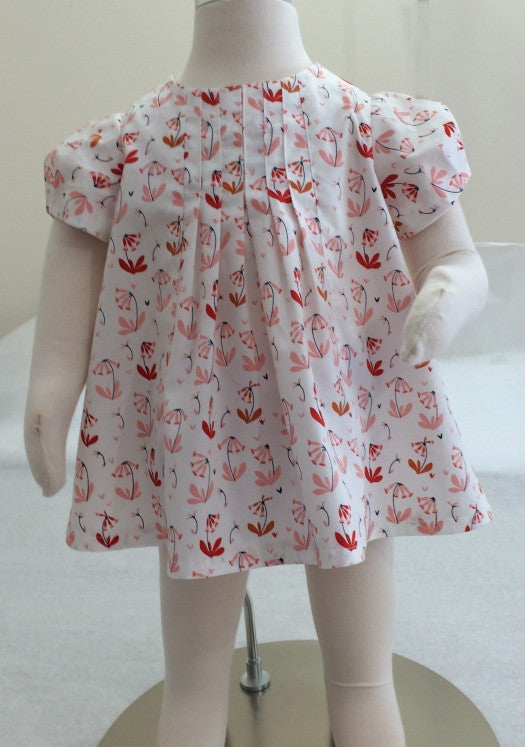 Shelley Dress & Blouse pdf girl's dress or top pattern sizes 3-6 months to 8 years.