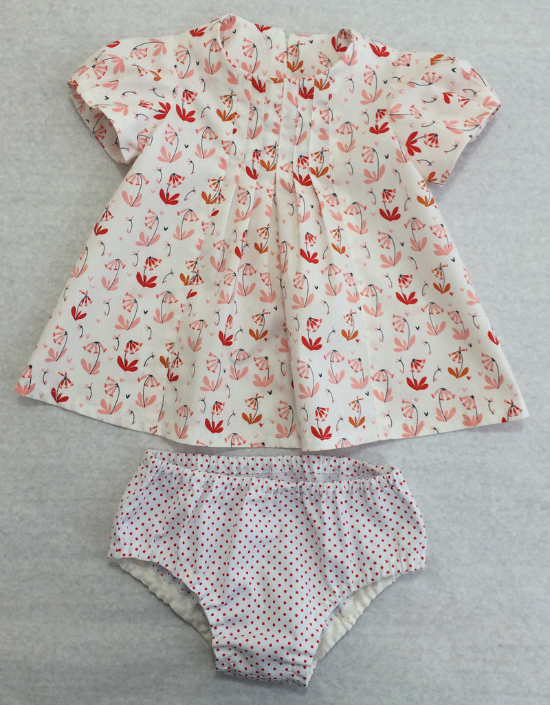 Girl's dress or top pattern Shelley Dress & Blouse sizes 3-6 months to 8 years. - Felicity Sewing Patterns