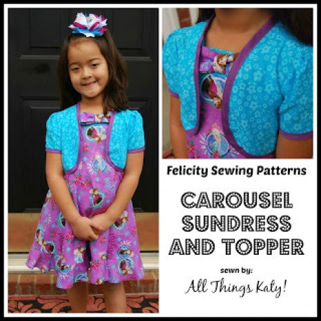 Carousel dress and topper review by All Things Katie