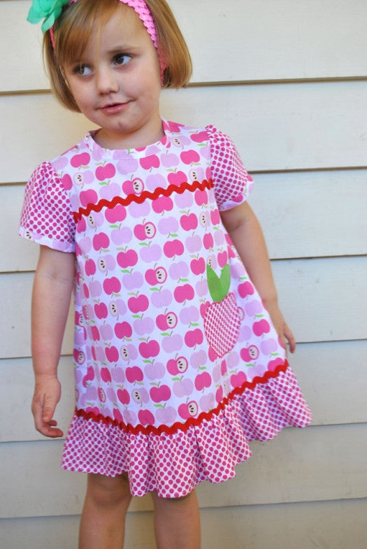 Colourful toddler summer dress and top sewing pattern by Felicity Patterns