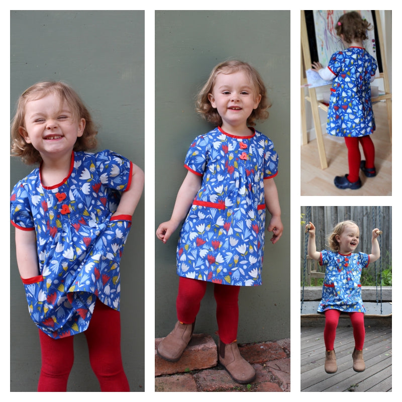 SALE COUPON! Winter dress & tunic PDF sewing pattern Shelley Dress & Blouse pattern sizes 3-6 months to 8 years. - Felicity Sewing Patterns