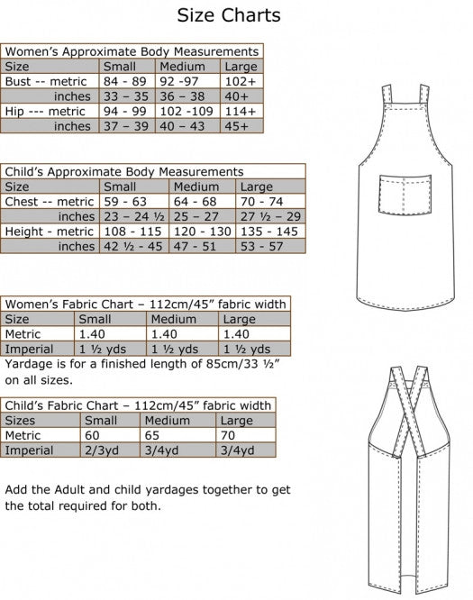 Z FREE PATTERN - The Cross-back Apron for Mothers & Daughters - Felicity Sewing Patterns