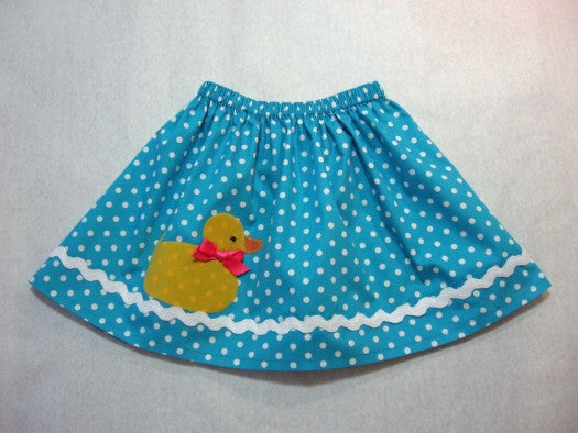 FREE PATTERN -- Duckie Skirt Pattern & 2 Appliques Felicity Sewing Patterns