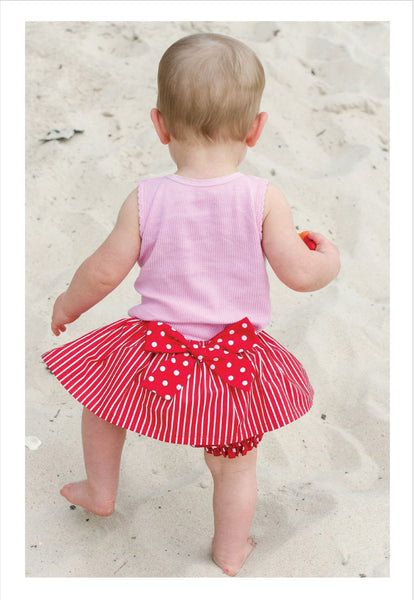 sweet little baby bloomers with skirt sewing pattern by Felicity Patterns