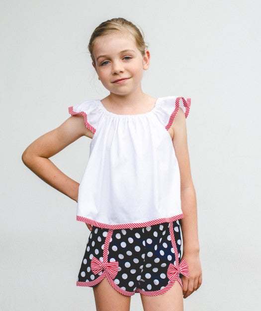 Gidget Shorts with Tilly Top by Felicity Sewing Patterns