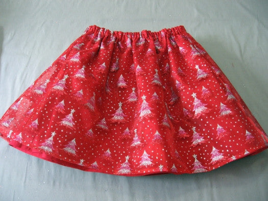 FREE PATTERN - Christmas Glitter Skirts sizes 6 months to 8 years. Felicity Sewing Patterns