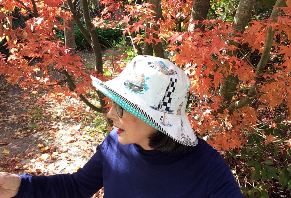 Reversible Sun Hat for Adults and Kids PDF Sewing Pattern - Felicity Sewing Patterns