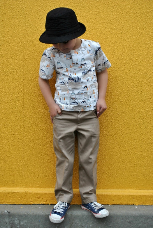 pdf sewing pattern for boys trousers & shorts by Felicity Sewing Patterns