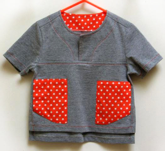 Kids summer shirt PDF sewing pattern for knit or woven fabric. Kieran Shirt sizes 2 - 12 years, - Felicity Sewing Patterns