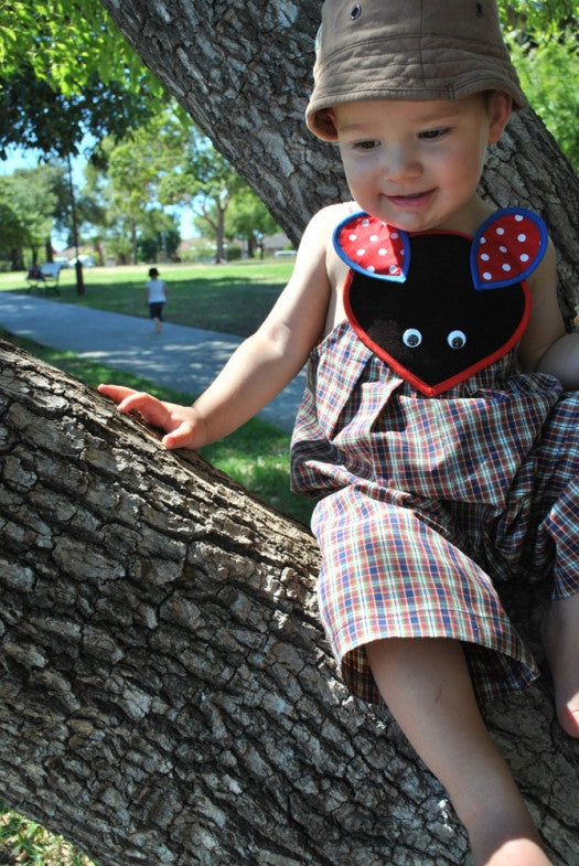 Baby boy shortall romper pdf sewing pattern by Felicity Sewing Patterns