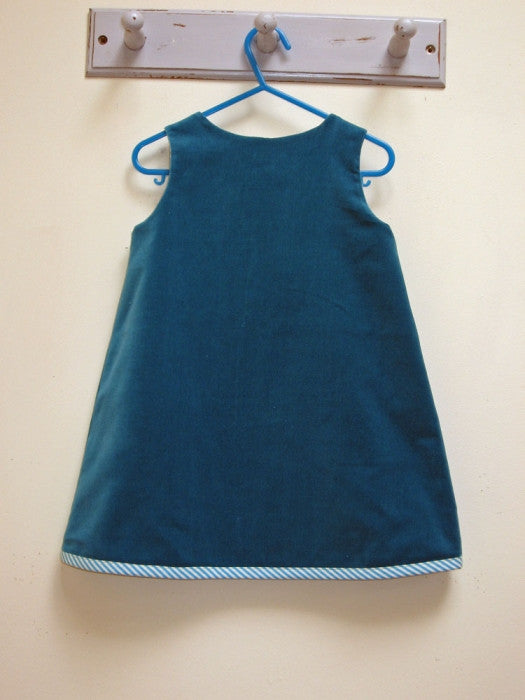 Baby and toddler dress pattern Petal Reversible Dress pdf sewing pattern sizes 6-9 months to 8 years. - Felicity Sewing Patterns