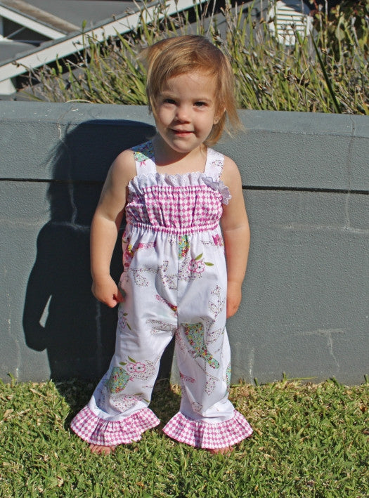 Baby & toddler girls sewing pattern PLAYGROUND ROMPER sizes 3 months ...
