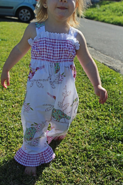 PLAYGROUND ROMPER baby & toddler girls sewing pattern sizes 3 months to 6 years.