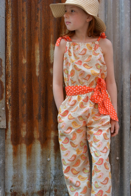 Peachy Dress & Playsuit girls dress and romper sewing pattern