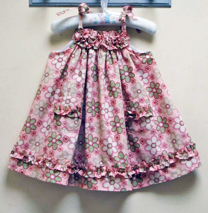 Daisy Sundress PDF Sewing Pattern and Tutorial sizes 6-9 months to 8 years. - Felicity Sewing Patterns