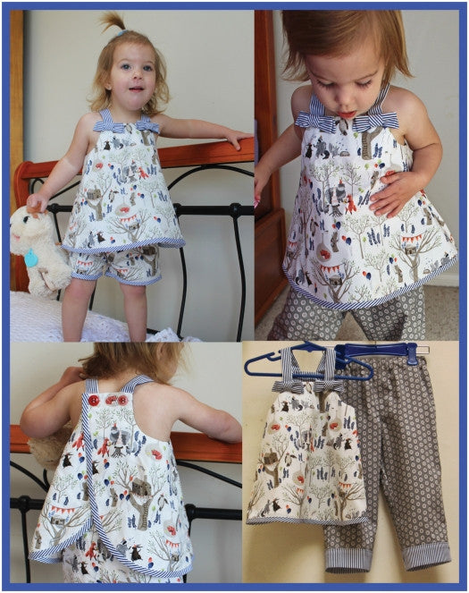 Ruffles Baby Top & Pants sewing pattern for babies & toddlers
