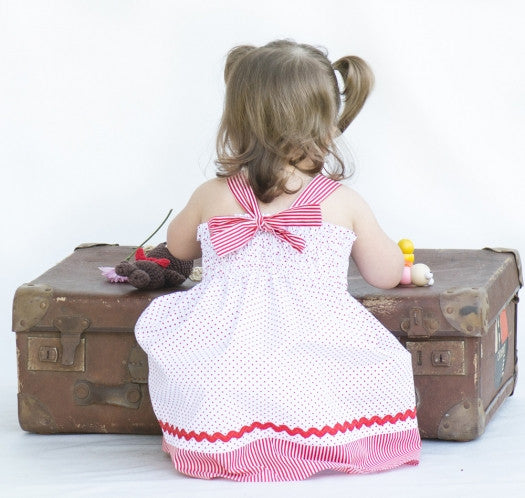 FREE PATTERN TUTORIAL!  Girl's Shirred Dress or Top by Felicity Sewing Patterns