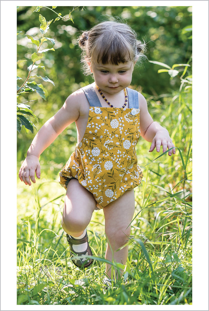 SALE COUPON! Baby Boy and Girl Romper PDF Sewing Pattern, DIMPLES reversible baby sunsuit/romper, sizes 3+months - 3 years - Felicity Sewing Patterns