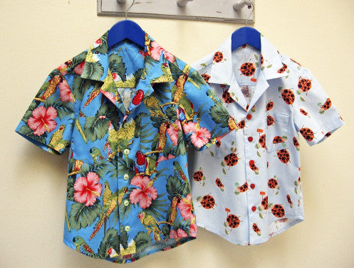 THOMAS SHIRT casual shirt for boys & girls 2-14 years. Hawaiian shirt sewing pattern. - Felicity Sewing Patterns