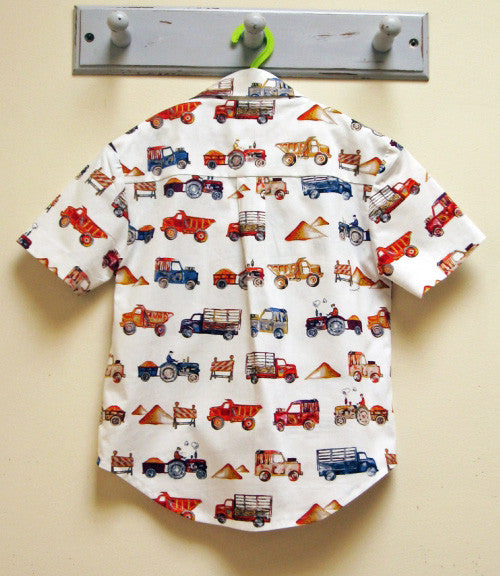 The Thomas Shirt sewing pattern, Casual shirt for boys, Hawaiian shirt pattern.