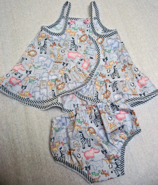 Baby sewing pattern Ruffles Baby Top & Pants sewing pattern for babies & toddlers