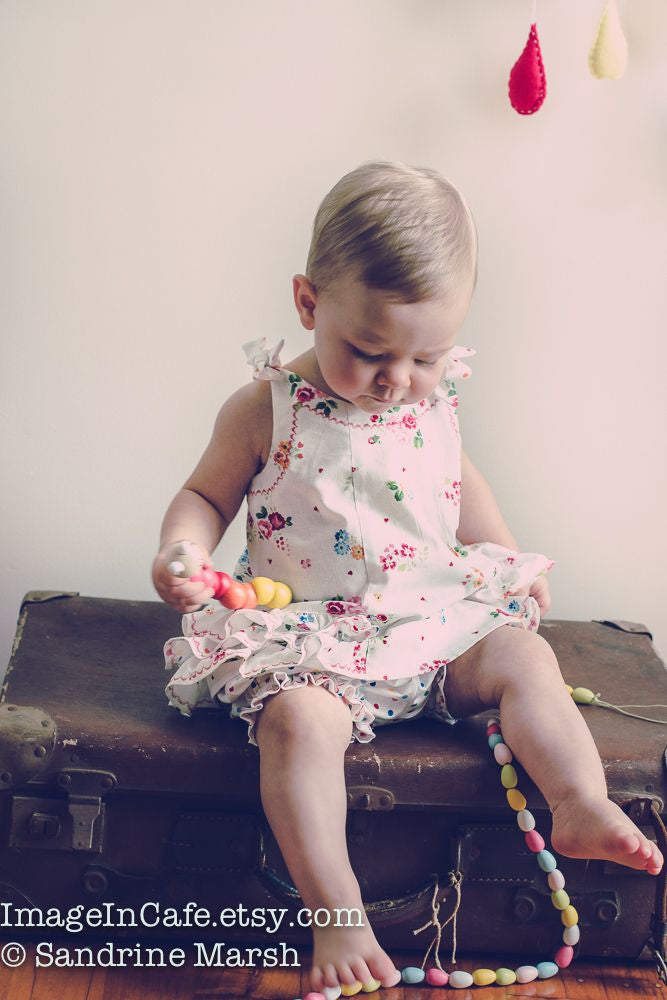 Toddler Dress sewing pattern SUNNY DRESS & BLOOMERS Sizes 6 months to 6 years by Felicity Patterns