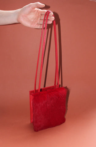 MINI RED BUNNY SQUARE bag