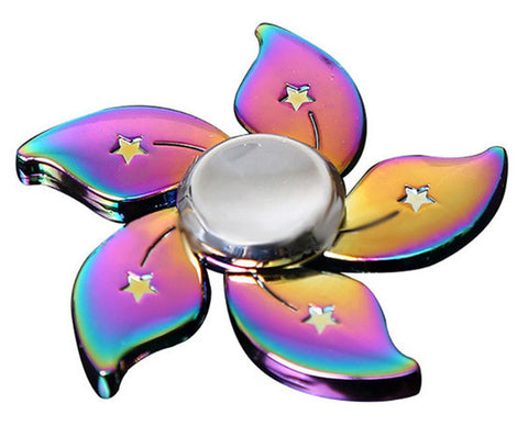 Fidget Spinner rainbow flower