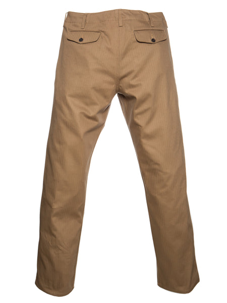 Dadier Pant In Tan Flat Lay Main Back Photo