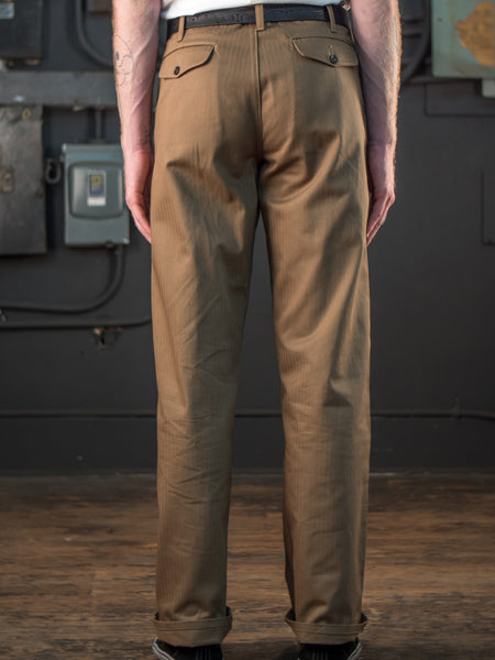 Dadier Pant In Tan On Body Back