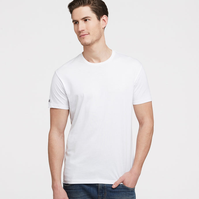 Mens Crew Neck White T-Shirt