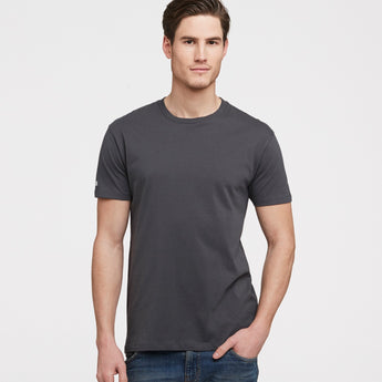 littlebit Mens Crew Neck T-Shirt in washed black