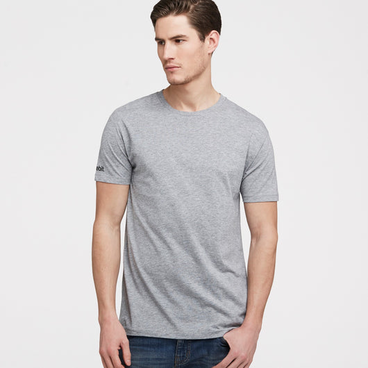 littlebit Mens Crew Neck T-Shirt in grey marle