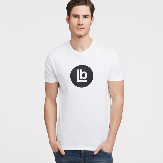 LB Mark White Crew Neck T-Shirt
