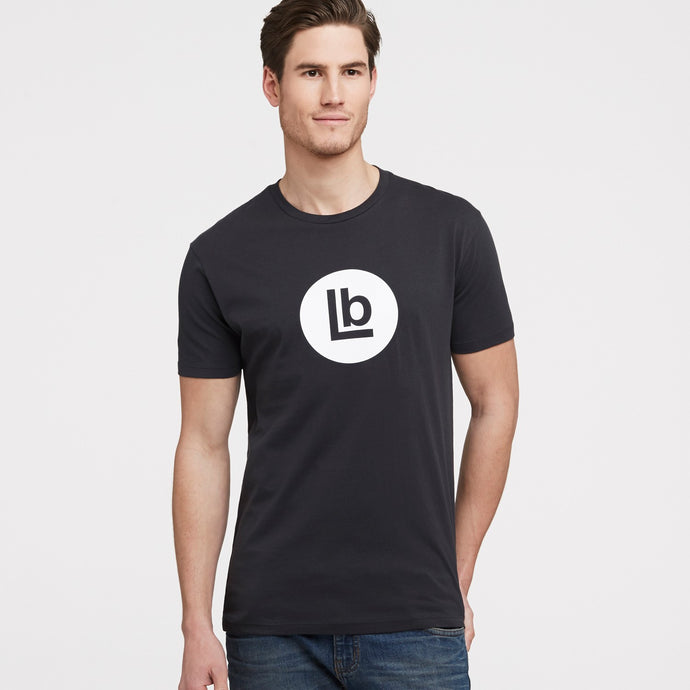 LB Mark Black Crew Neck T-Shirt