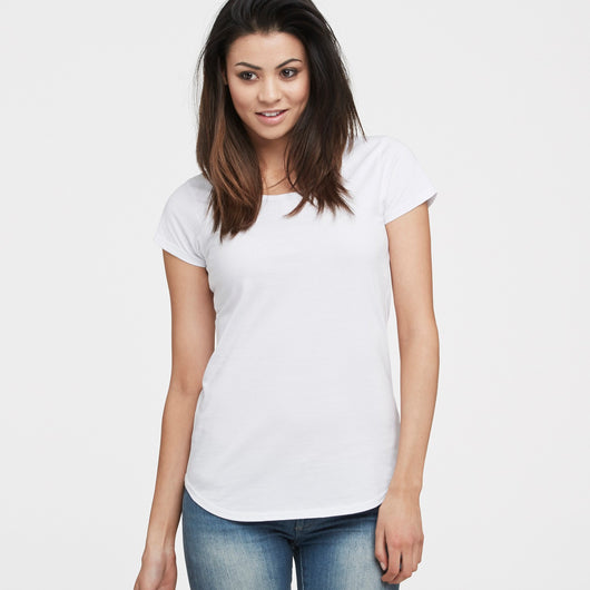 littlebit Womens Scoop Neck T-Shirt in white