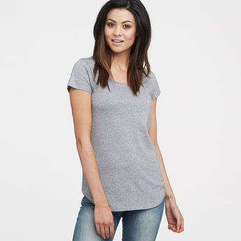 littlebit Womens Scoop Neck T-Shirt in grey marle
