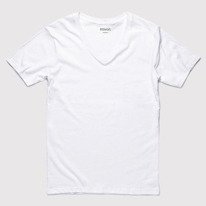 Basic White V-Neck T-Shirt