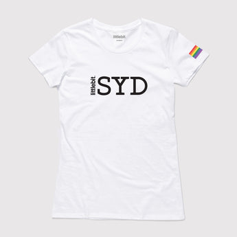 littlebit LGBTI Sydney Mardi Gras Crew Neck T-Shirt in white