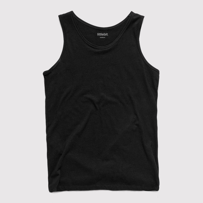 Mens Low Cut Tank Singlet Black