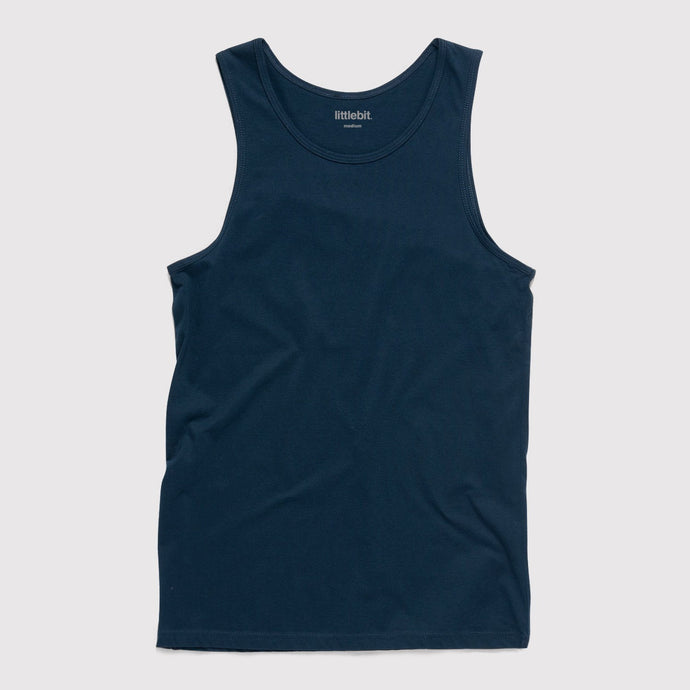 Mens Low Cut Tank Singlet Navy