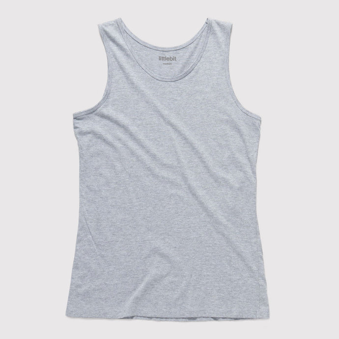 Mens Low Cut Tank Singlet Grey Marle