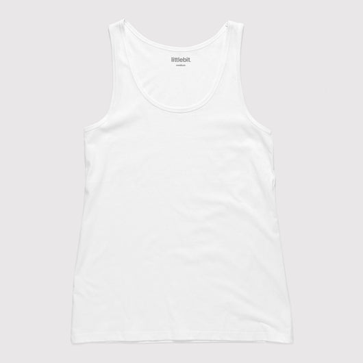 littlebit Womens Boyfriend Basic Tank in white