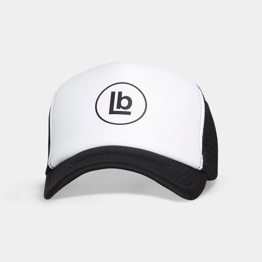 LB White Trucker Cap