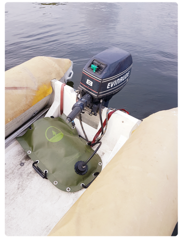 DACOBLUE BAG USED AS CONSUMER FUELTANK FOR OUTBOARD ENGINE