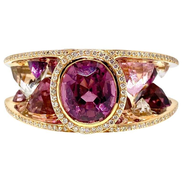Lorenz Baumer Multi-Color Gemstone and Diamond Ring