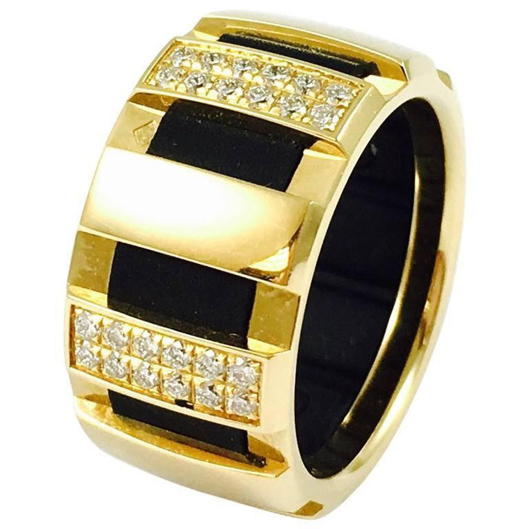 Chaumet Class One 18K Gold Diamond Ring