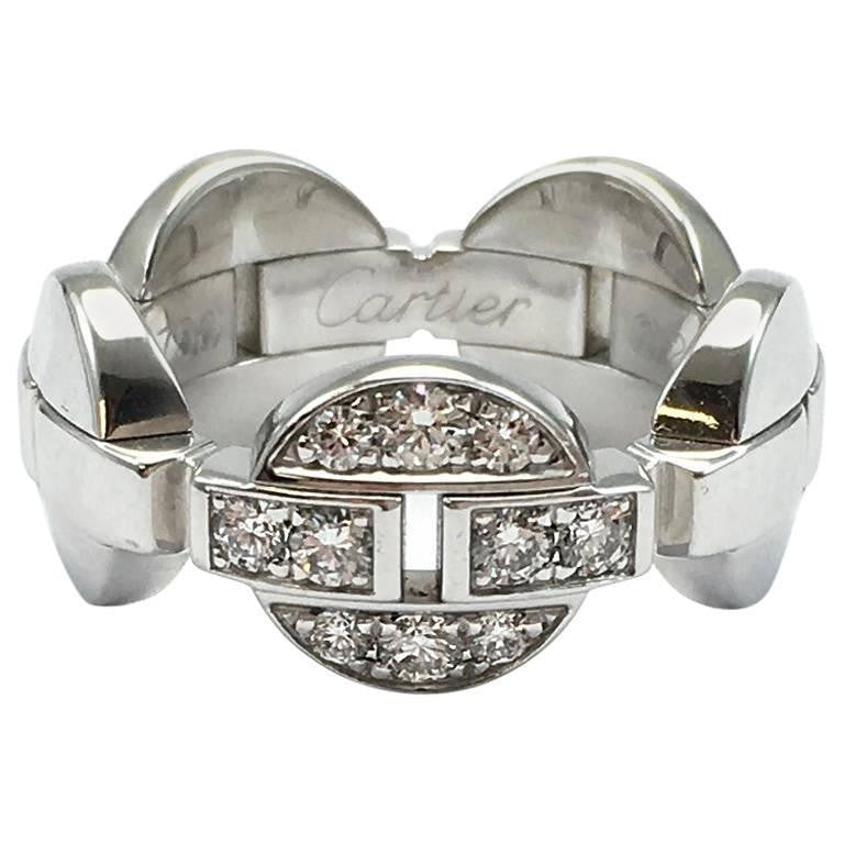 Cartier Himalia 18K White Gold Diamond Band Ring