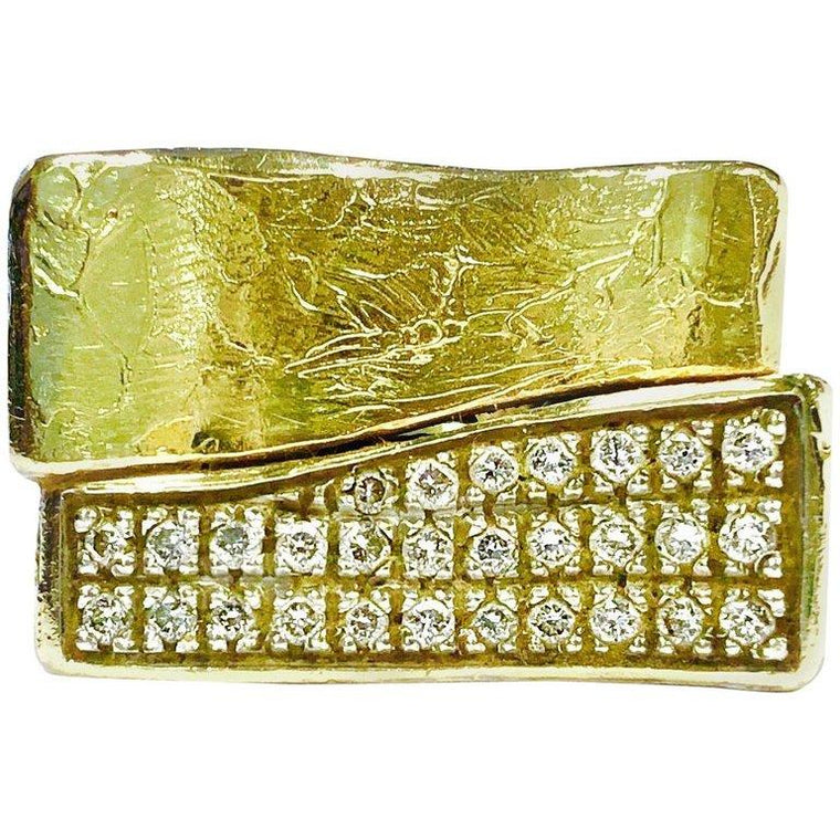 Torrini 1369 Firenze Bilbao Handmade Diamond and Gold Ring