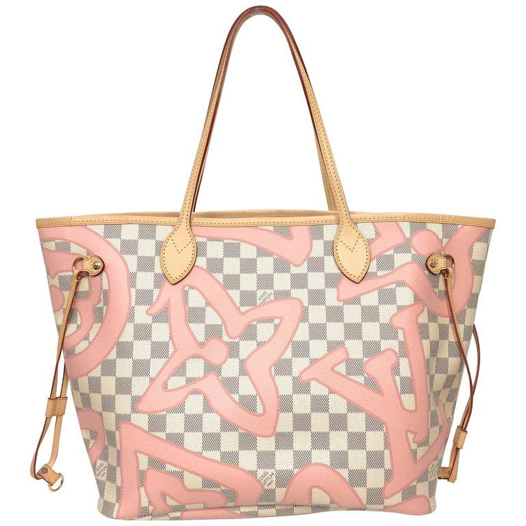 0aab7414a4a81 ... Louis Vuitton Limited Edition Neverfull MM Tahitienne Tahiti Rose  Canvas Tote ...